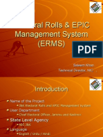 Electoral Rolls & EPIC Management System