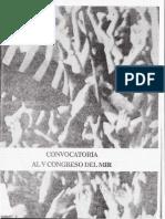 MIR (1990) Convocatoria Al v Congreso (Inconcluso)