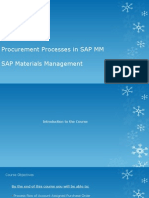 Account Assigned Procurement Process in SAP MM