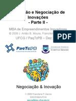 Apresentação - Avaliação e Negociação de Inovação
