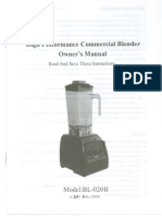 Chicago Food Machinery Blender Manual