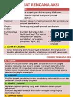 Contoh Format Rencana Aksi