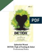 Detox Fasting Notes