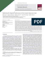 Optimising the Diagnostic Performance of the Geriatric Depression Scale Izal-2010