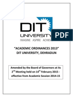 Academic Ordinances 2013 - Approved by BOG