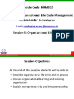 HRM502 5 Organisational Life Cycle