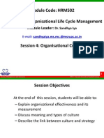 HRM502 4 Organisational Culture