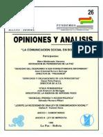 26 La Comonicacion Social en Bolivia