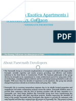 Parsvnath Exotica Apartments in Sector 53, Gurgaon