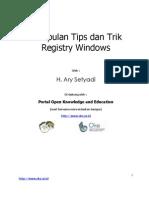 Kumpulan Tips Dan Trik Registry Windows