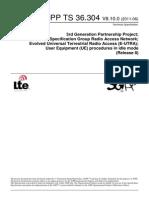 UE Procedures in Idle Mode Release 8 LTE