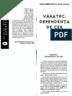 ZOE DUMITRESCU-BUSULENGA - Varatec. Dependenta de Cer
