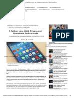 Aplikasi Yang Wajib Dihapus Dari Smartphone Android Anda - Tekno Liputan6