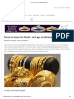 How to Invest in Gold - 6 Ways Explained !