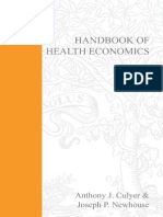 HANDBOOK OF HEALTH ECONOMICS VOLUME 1A