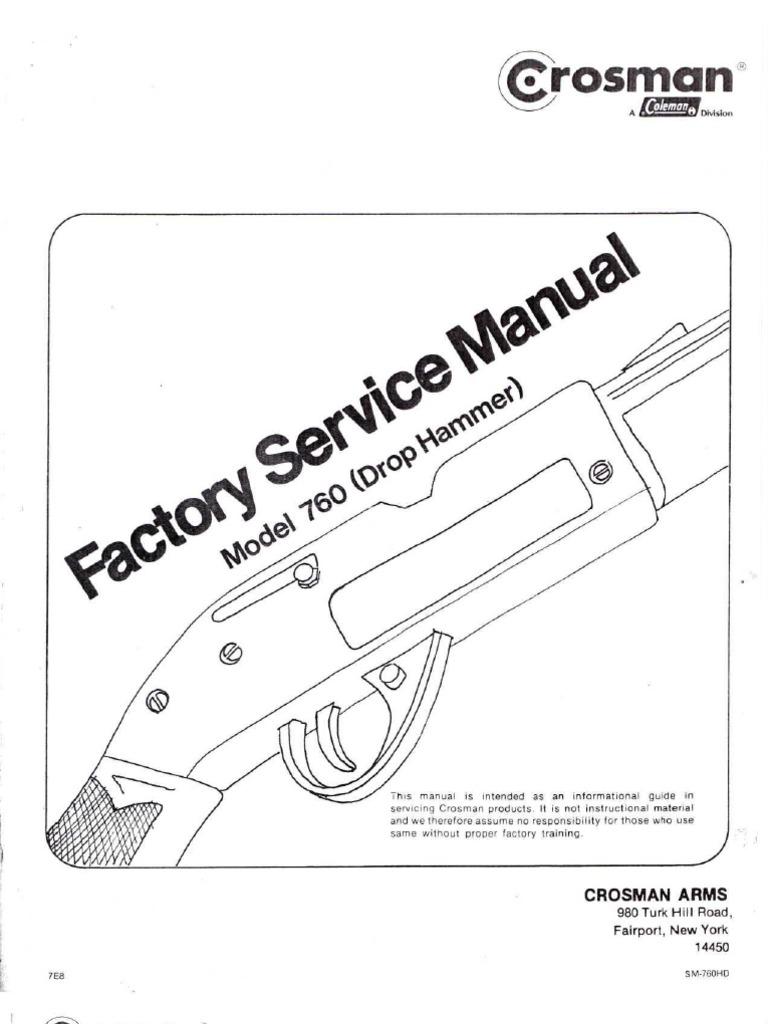 Crosman 760 Factory Service Manual Valve Machines