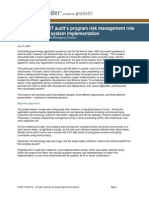 A Case Study in IT Audit%E2%80%99s Program Risk Management Role on a Large-scale System Implementation
