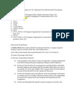 Check List for Board Report