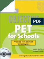 Objective PET for Schools Practice Test Booklet