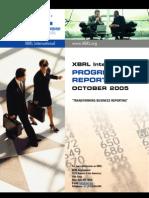 2005 10 XBRL Progress Report