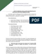 Acta de la reunión de la Junta de personal con función pública