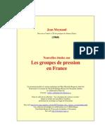 Meynaud Nouvelles Etudes sur les groupes de pression en France (1962)