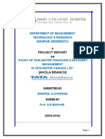 STUDY OF TATA MOTOR FINANCING & RECOVERY.doc