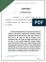CRITICAL ANALYSIS OF RECRUITMENT PROCESS IN DOORDARSHAN.doc