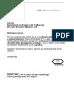 Ejemplo de Machote Carta Para Licencia Tipo d1