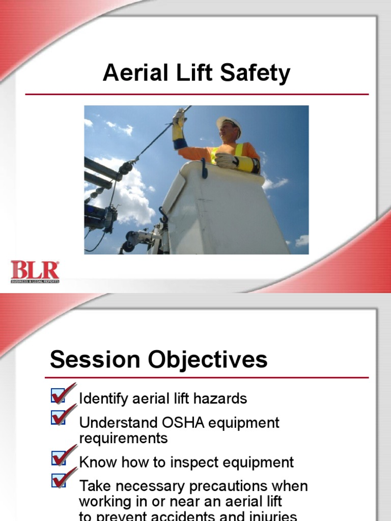 Aerial Lift Safety PowerPoint Elevator