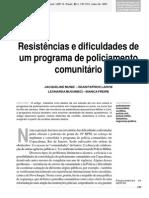 Resistências e Dificuldades de Um Policiamento Comunitário