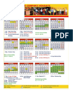 2015 Calendar With School Holiday