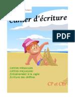 Cahier Écriture CP CE1