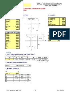 Prestressed-Precast Design Spreadsheet | Prestressed Concrete
