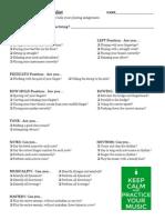 practice checklist 2015