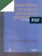 Norma Tecnica de Salud de los Servicios de Emergencia - NT 042-MINSA-Peru