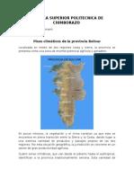 Pisos climáticos Provincia de Bolivar