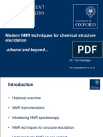 Dr Tim Claridge - Modern NMR Techniques for Chemical Structure Elucidation