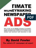 David Fowler - Ultimate Moneymaking Newspaper Ads