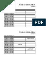 Horario de Evaluaciones Sumativas I Parcial IQM