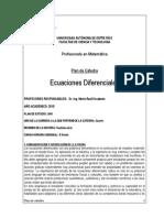 Plan Cátedra Ecuac Difer - 2015