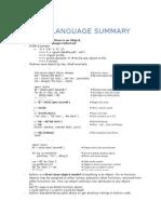 Python Language Features Summary