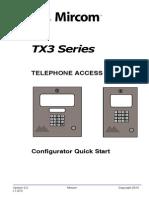Mircom TX3-MSW User Manual