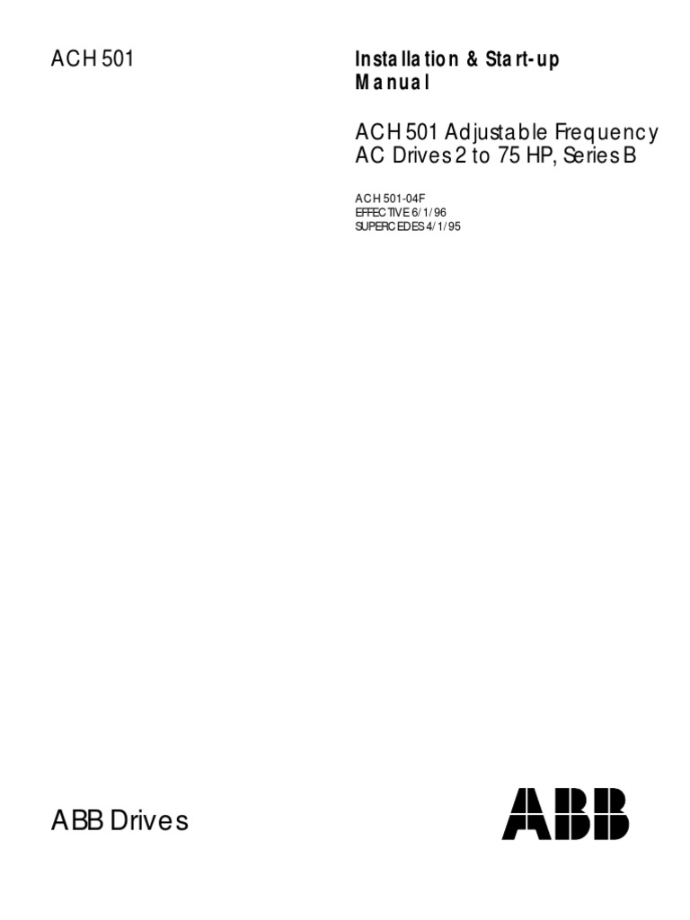 Abb Ach 501 Wiring Diagram Explore Schematic Electrical Electrostatic Discharge Rh Scribd Com Vfd Motors Catalog