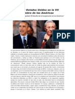 Cuba y Estados Unidos en La VII Cumbre de Las Américas