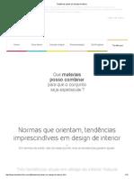 Tendências Atuais Em Design de Interior