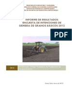 Informe de Intenciones de Siembra- 2012