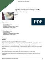 Receita_ Iogurte Caseiro Natural Açucarado