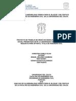 Análisis de Vulnerabilidad Sísmica Para El Bloque 1 Del Edificio de La Facultad de Ingenieria Civil de La Universidad Del Cauca2