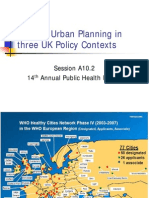 Healthy Urban Planning in 3 UK Policy Contexts presentation -  UK - 2006